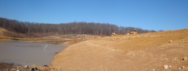 New Dam and Lake